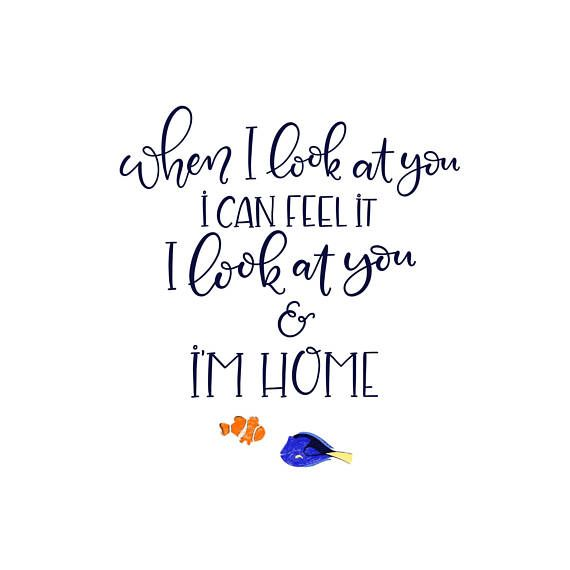 i look at you i m home finding dory disney instant