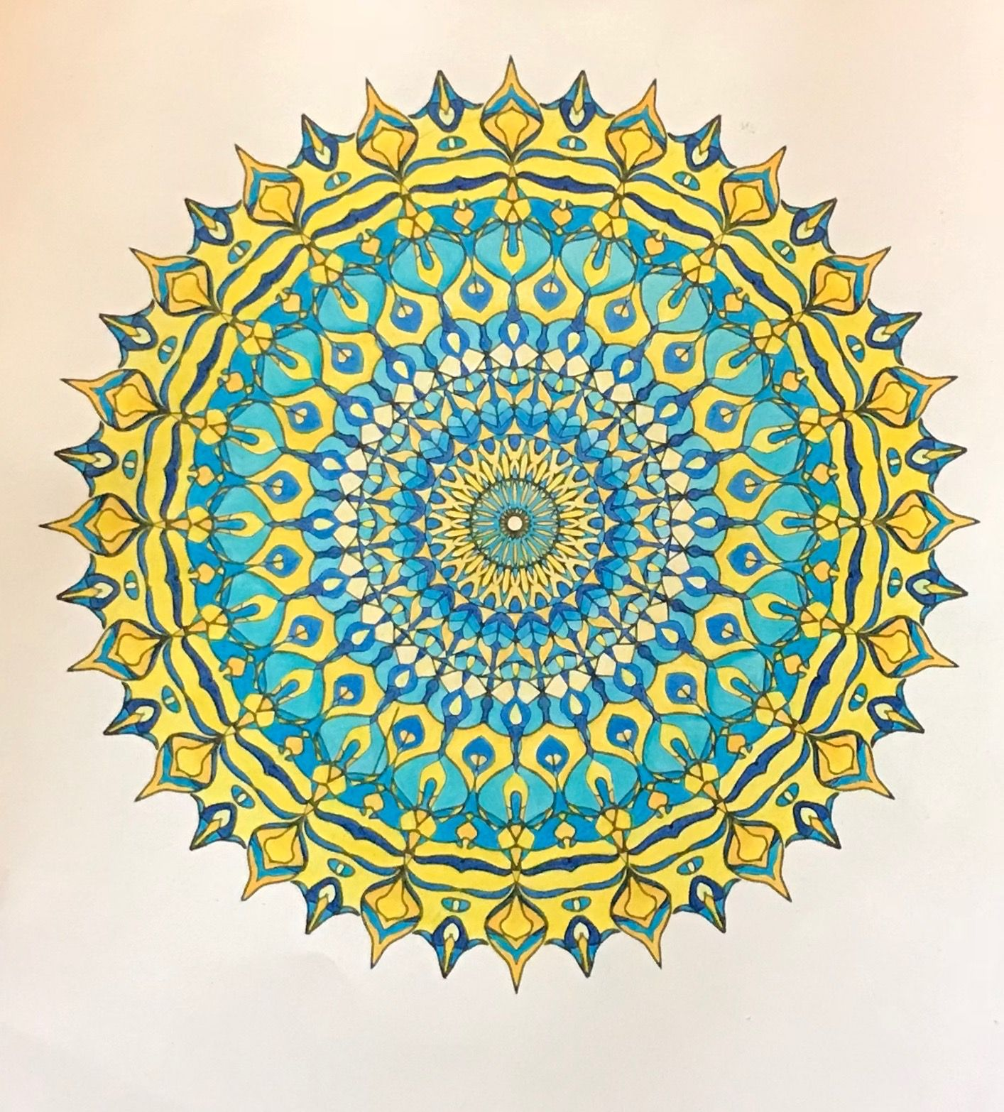 A Mandala Design From Treetalkerart Com Colored By B Holmes 12 29 2018 With Schpirrer Farben Colored Penci Mandala Design Mandala Coloring Mandala Meditation