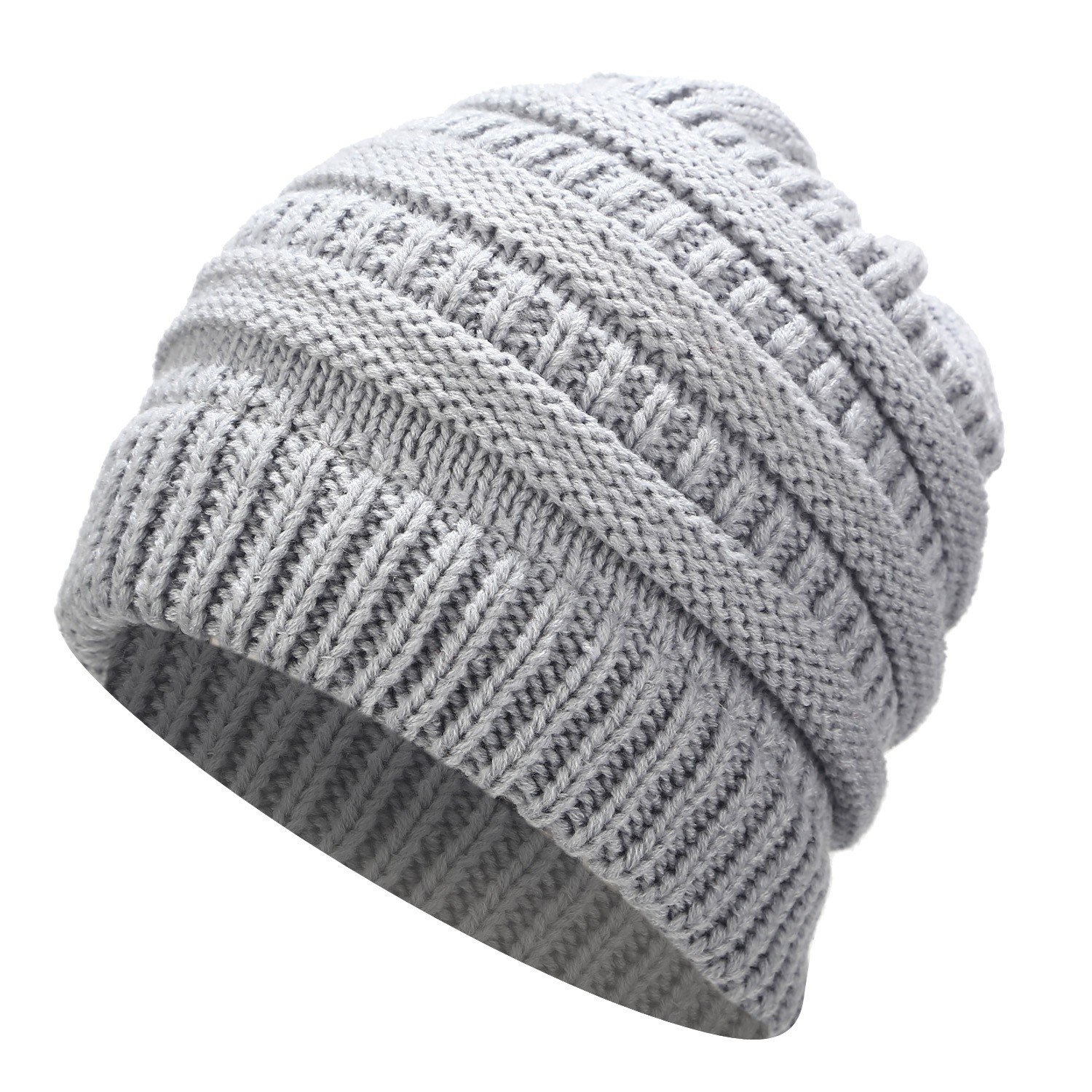 30e12880326 Ponytail Beanie Hat Winter Skullies Beanies Warm Caps Female Knitted Stylish  Hats For Ladies Fashion