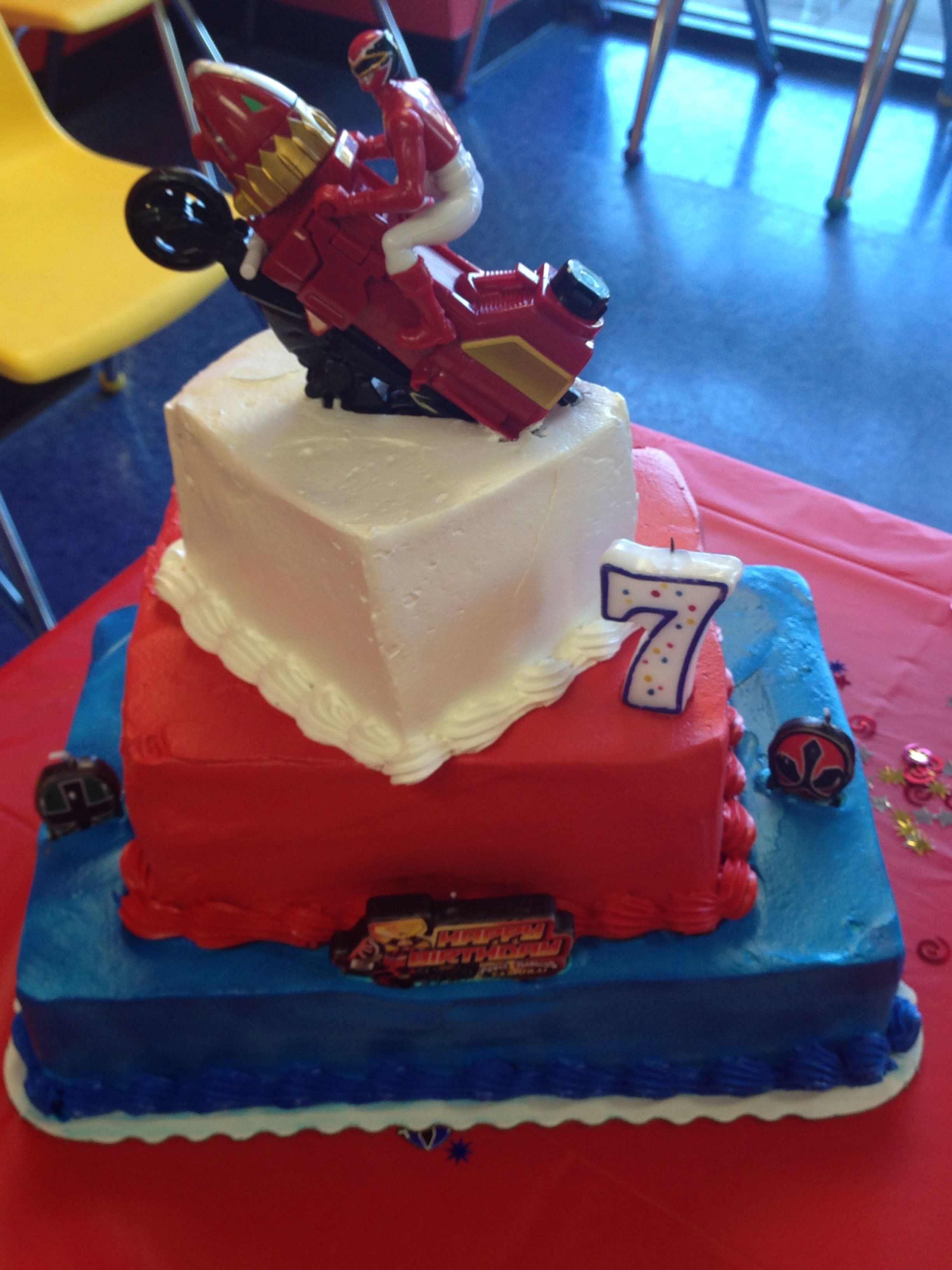 Power Rangers Birthday Cake I ordered a cake from HEB purchased