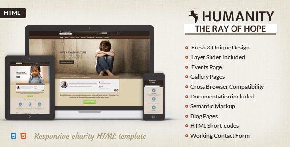 Humanity NGO \ Charity HTML Template Website themes - ngo templates