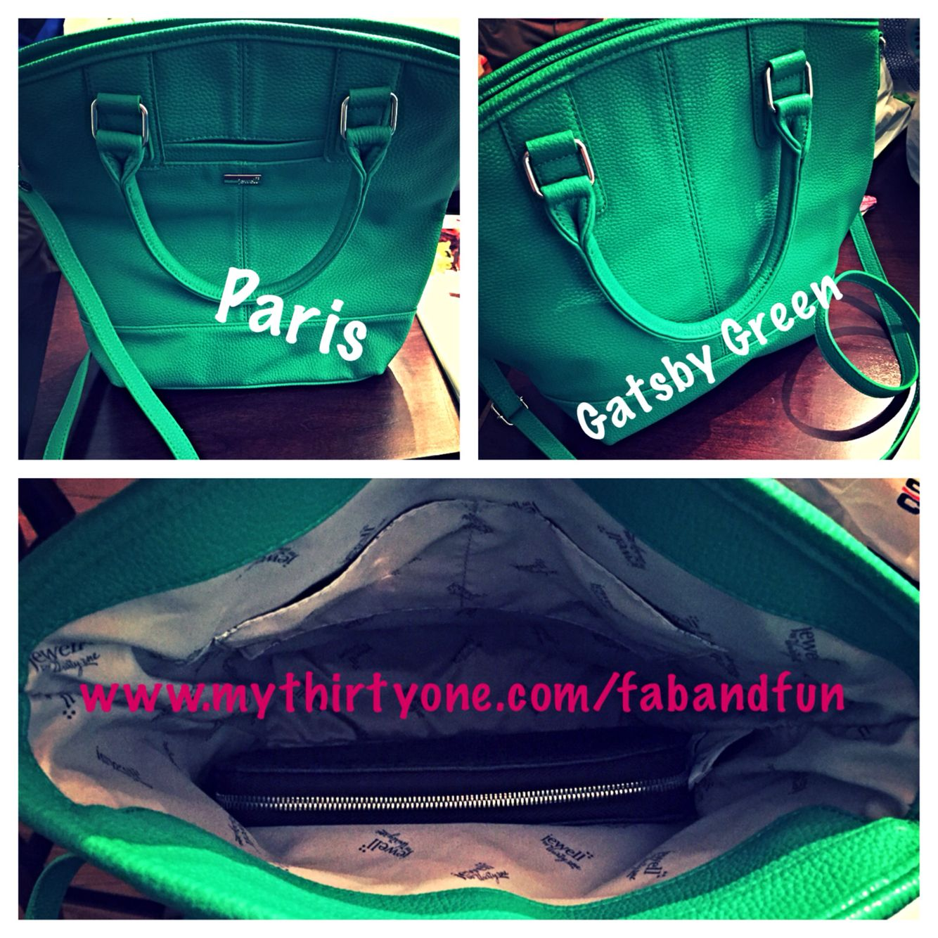 New Jewell by Thirty-One, Paris in Gatsby Green. www.mythirtyone.com/fabandfun #spring2015 #thirtyone #fabandfun