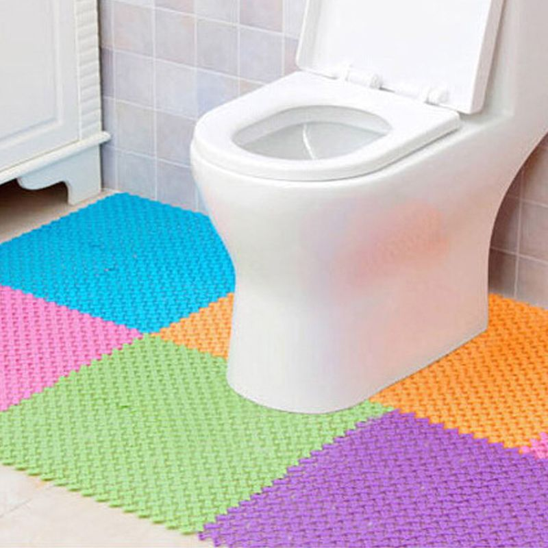 25*25cm Non Slip Toilet Floor Mats Bathroom Carpet Plastic Bath Wc Mat  Tapete