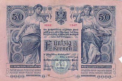 50 Korona Kronen 1902