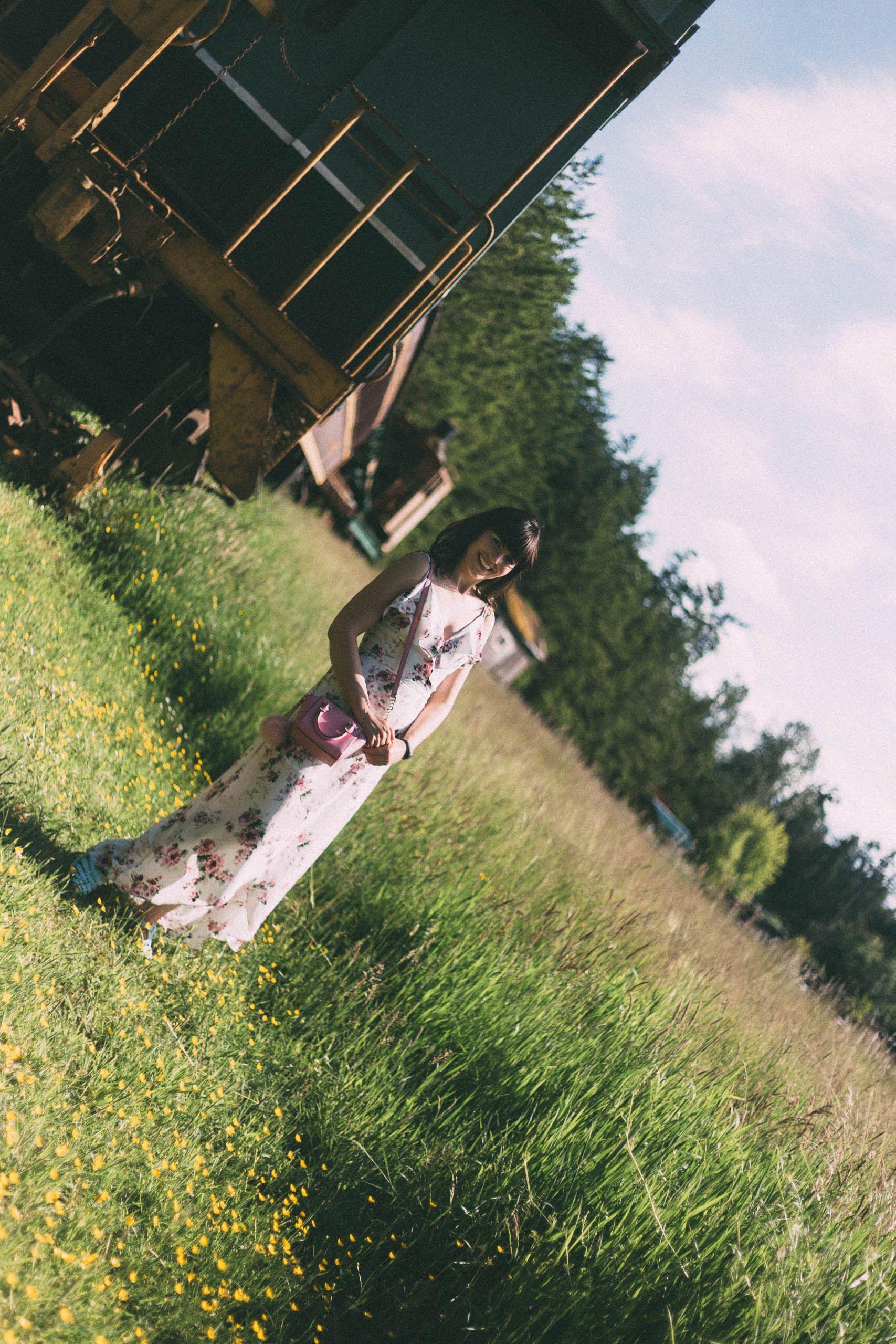 DESIGN LAB LORD & TAYLOR Floral Faux Wrap Maxi Dress, Floral Dress ...