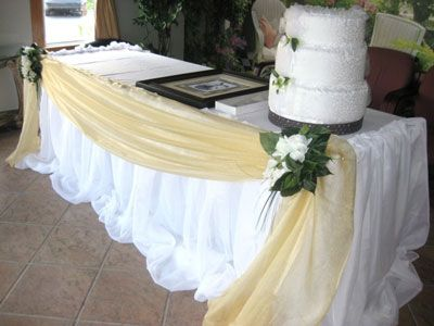 Wedding Cake Table Decorator In White Flowers