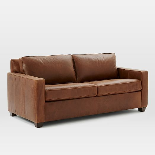 Henry® Basic Queen Sleeper Leather Sofa - Molasses | Casitas ...