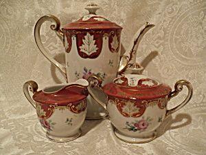 Adline China Occupied Japan Teapot, Creamer, Sugar | Teacups