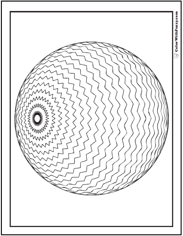 70+ Geometric Coloring Pages To Print And Customize | 3d and Patterns