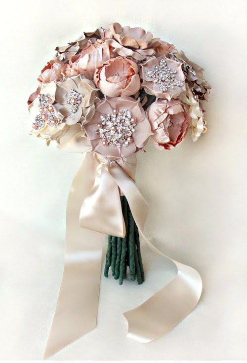 Image detail for -Bridal Fabric Flower Bouquet Custom Order by ...
