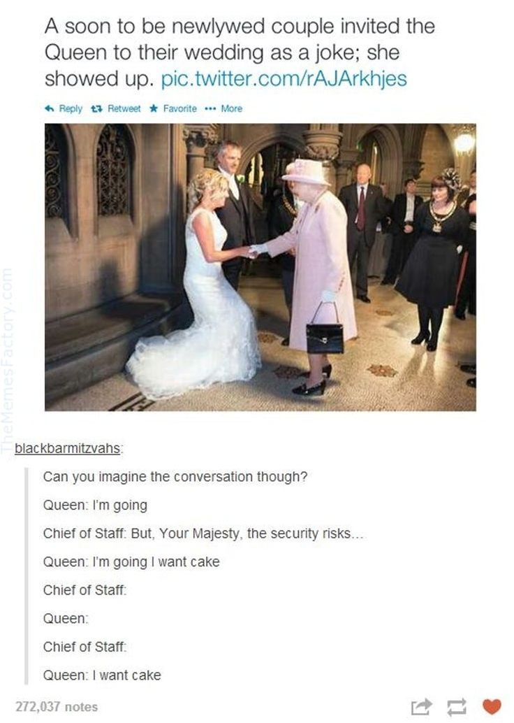 Internet Royalty: 15 Koningin Elizabeth II Memes die u steken geeft - BildersPin #presidents