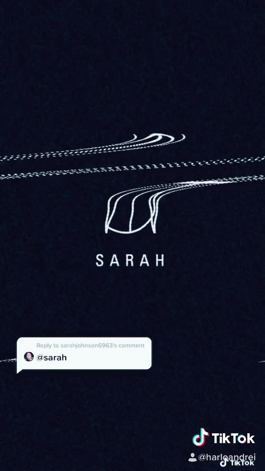 Sarah Name Logo Typography Design Video In 2021 Logo Design Trends Logo Design Typography Typography Logo