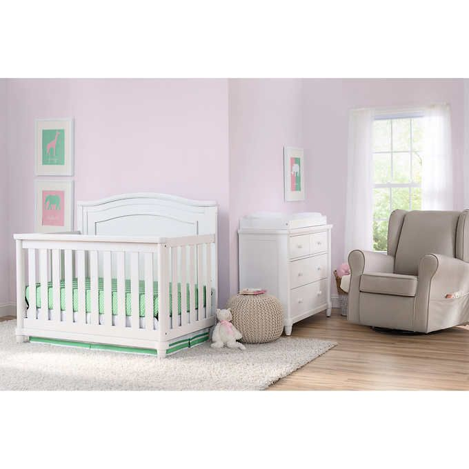 Simmons Kids Sophia 3 Piece Crib Set In White Costco