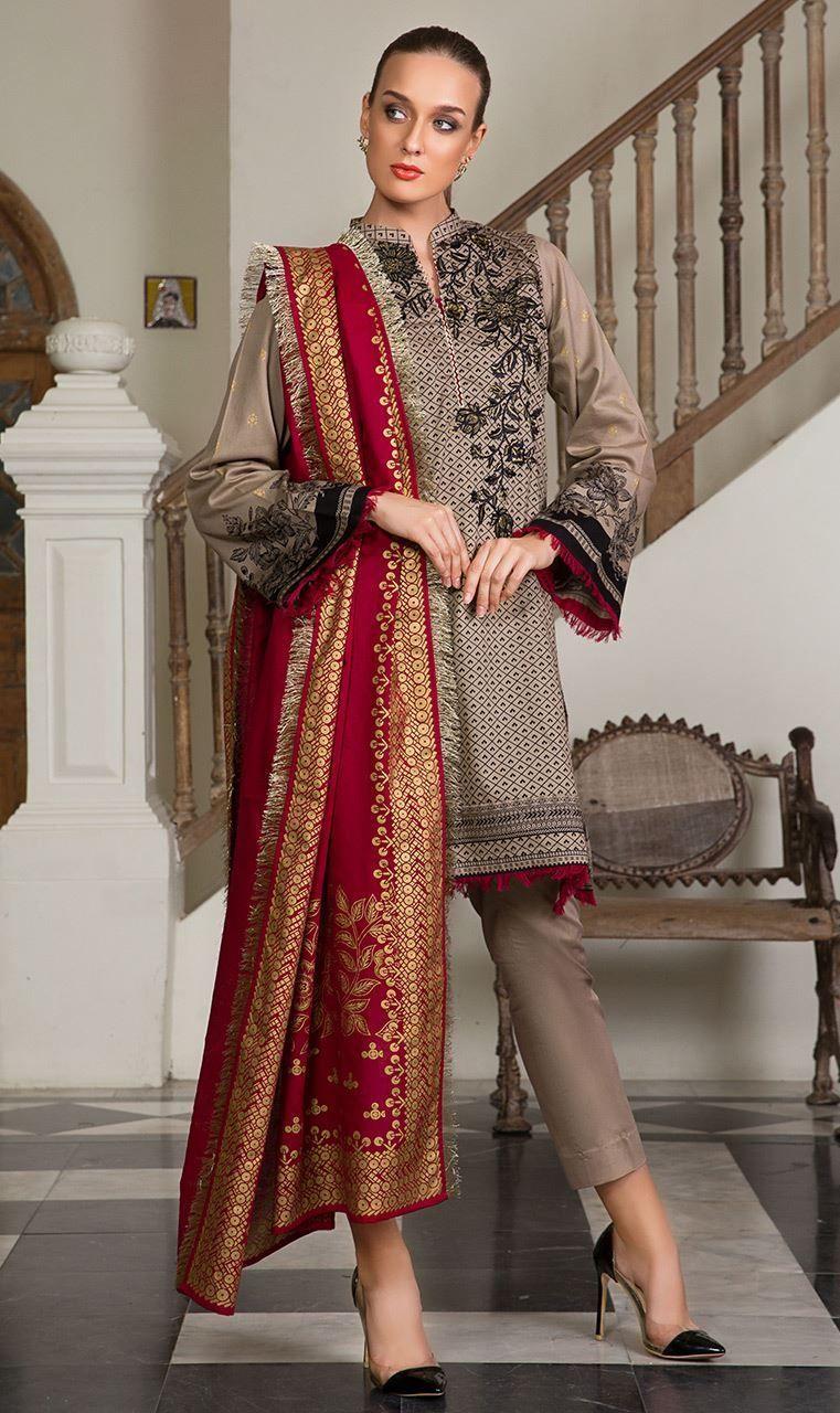 5759fa8f4e Orient OTL-18-175-A-U-W Luxury Winter 2018 Whatsapp: 00923452355358  #cambric #chiffon #clothes #couture #dresses #facebook #ladiesfashion  #latest-collection ...