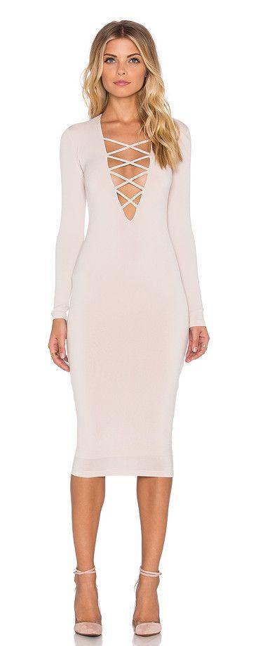 NOOKIE Ti amo lace up midi dress found on Nudevotion
