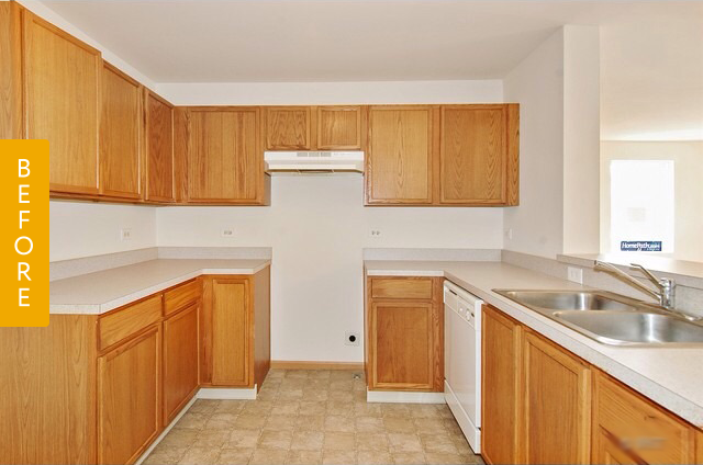 Etonnant Before U0026 After: A Builder Basic Kitchen Goes Glam U2014 Reader Kitchen Remodel