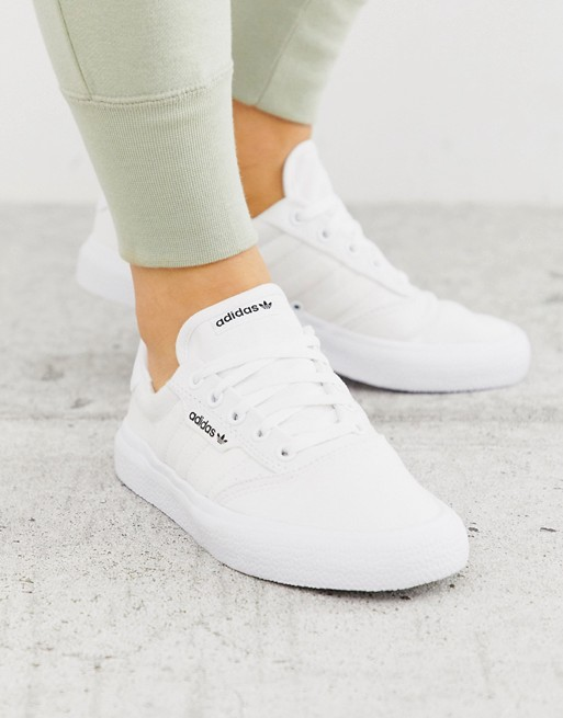 adidas Originals 3MC sneaker in white | ASOS | Adidas white ...