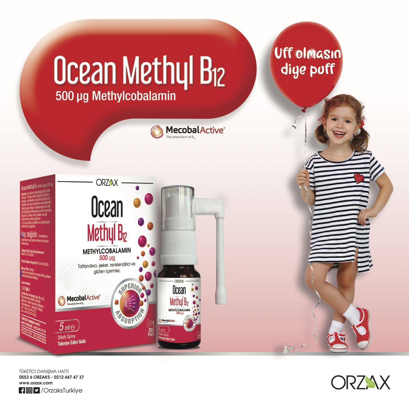 Ocean Methyl B12 Aktif Formda B12 Vitamini Icerir Bu Sayede Vucut Tarafindan Direkt Kullanilabilir Ocean Methyl B12 Sprey Basli Instagram Turkiye Urunler