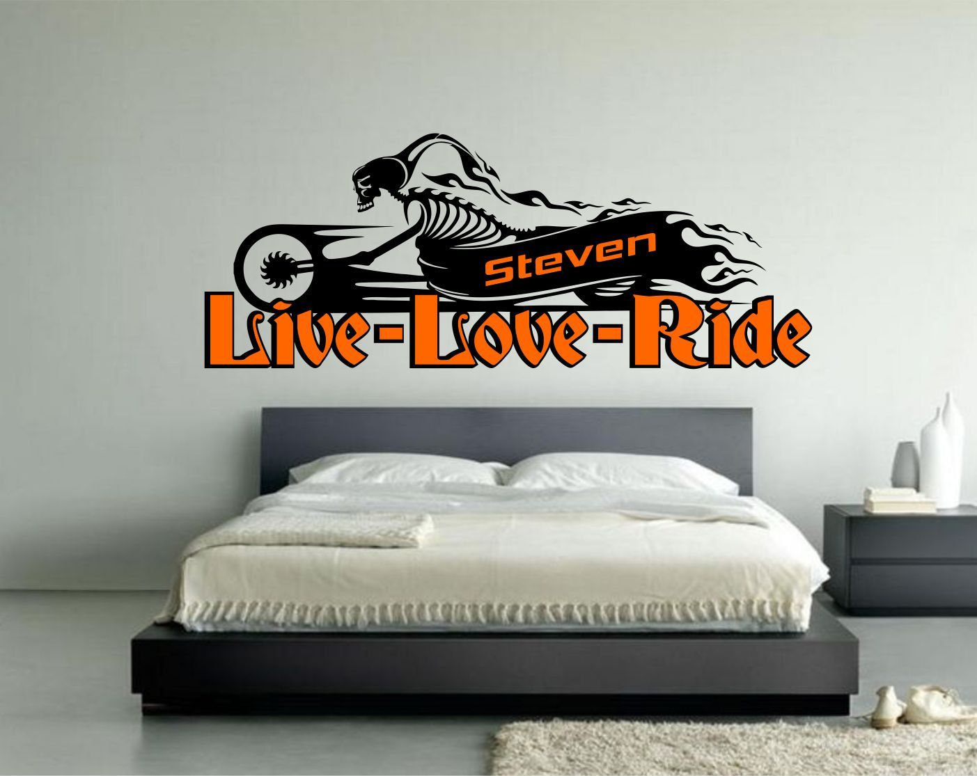 Garage Decor Signs Captivating Motorcycle Live Love Ride Personalized Decal Signpersonalized Design Ideas
