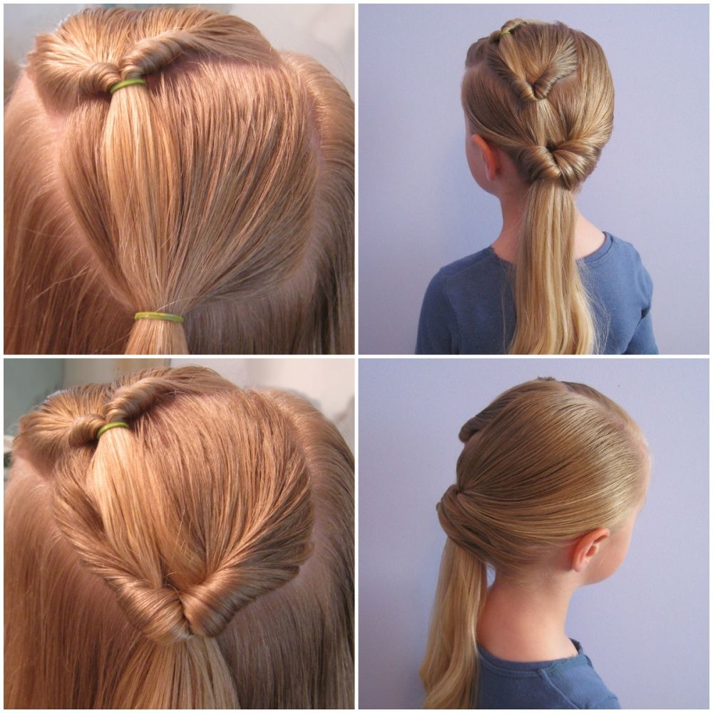Ten Quick And Easy Hairstyles For Your Daughter Which Even Dad Can Do Easy Hairstyles Hair Styles Girl Hairstyles