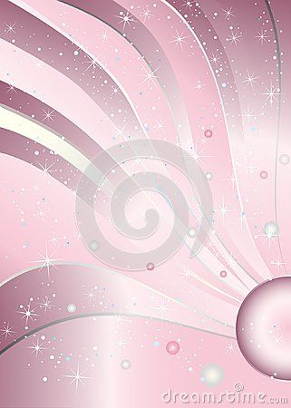 Pink Baby Girl Birthday Princess Glitter Bling Sparkle Background