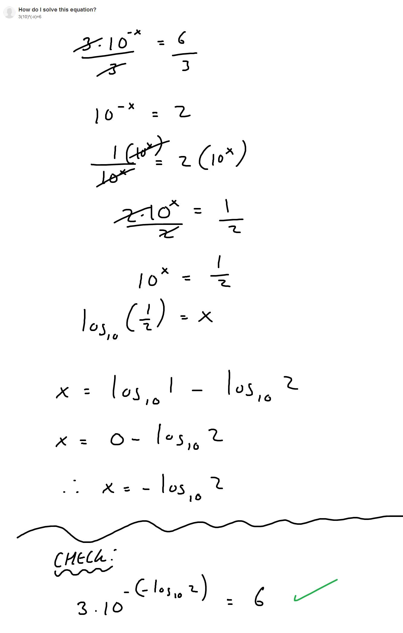 Logarithm Problem