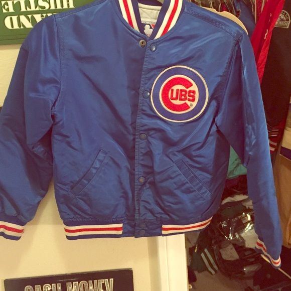 8eda608e9 Chicago Cubs vintage satin starter bomber jacket Vintage starter jacket  Chicago Cubs satin bomber. MLB