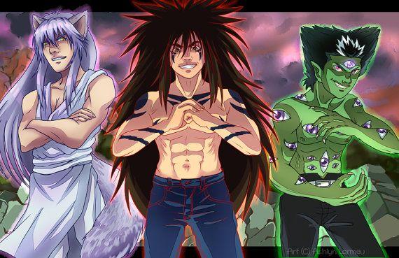 yu yu hakusho demon gang anime poster