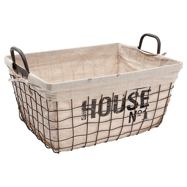 No 1 Wire Laundry Basket With Linen Lining Target Australia