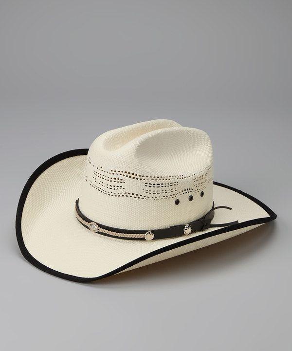 af15c6241 Look at this Western Express White & Black Leather Bangora Cowboy ...