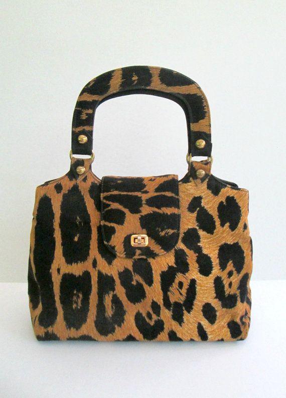 Fabric Animal Print Handbag Vintage Leon Of By Looseendsvintage 35 00
