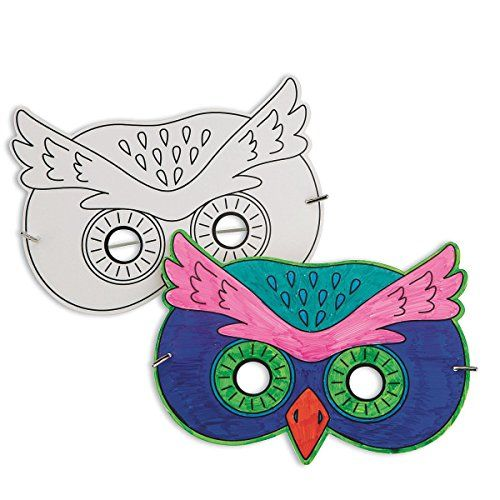 Half Masks To Decorate Pleasing S&s Worldwide Owl Half Mask Pack Of 24 S&s Worldwide  Campout Decorating Design