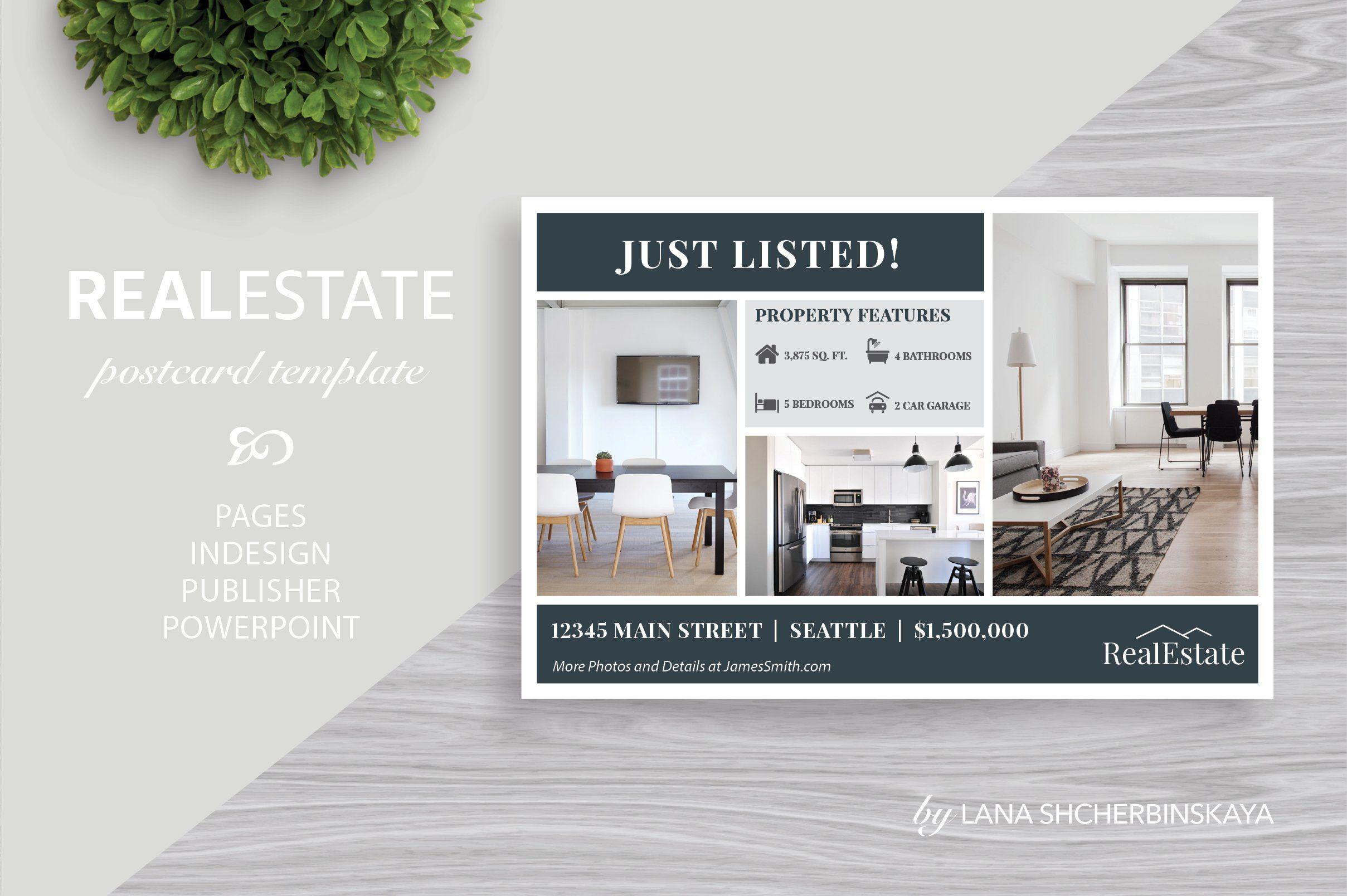 Real Estate Postcard Template No 1 Real Estate Postcards