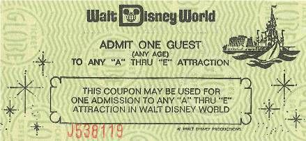 A Vintage Specialty Ticket These Were Given As Promos Or To Unhappy Guests It Was Worth Less Than 1 But That Didnt Matter Because You Could Use On