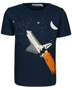 T-Shirt SPACE SHUTTLE GLOW IN THE DARK in dunkelblau