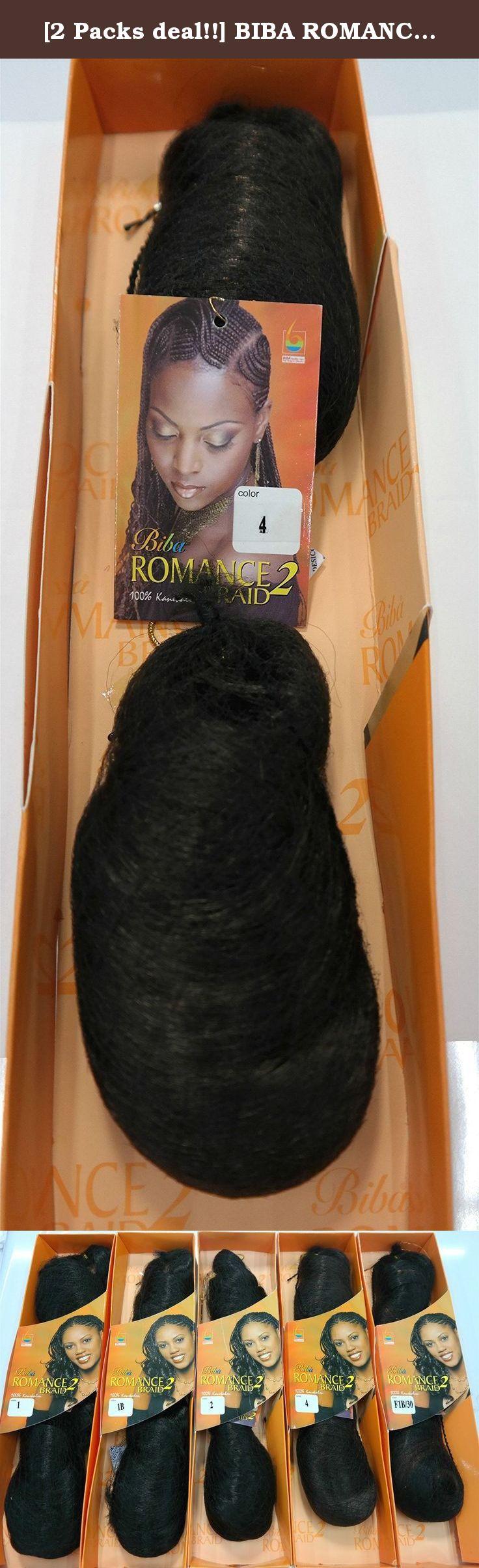 2 Packs Deal Biba Romance 2 Braid 4 100 Kanekalon Hair