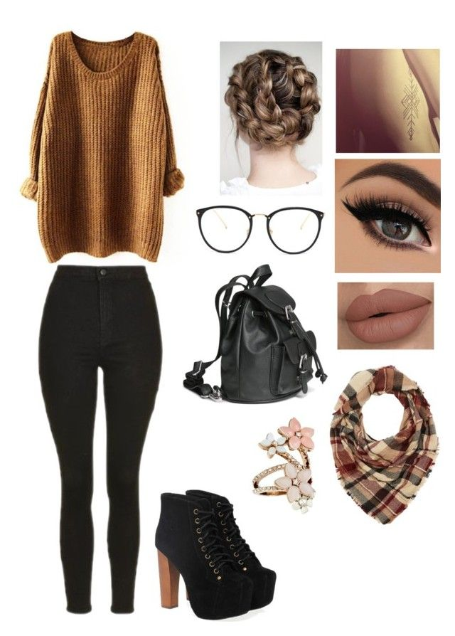 """""""Fall outfit"""" by angelice234 on Polyvore featuring Topshop, Jeffrey Campbell, Linda Farrow, Accessorize and Charlotte Russe"""