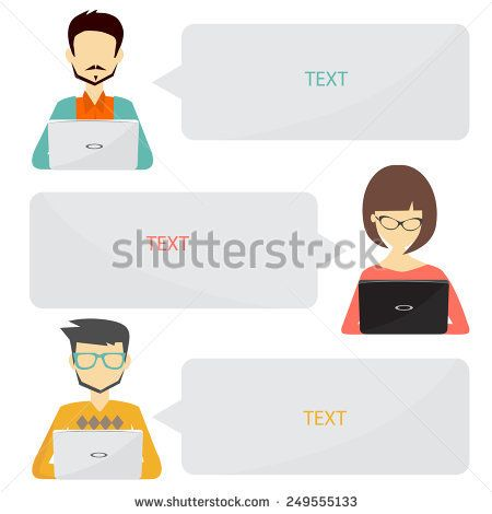 people icons with dialog idea speech bubbles infographic concept