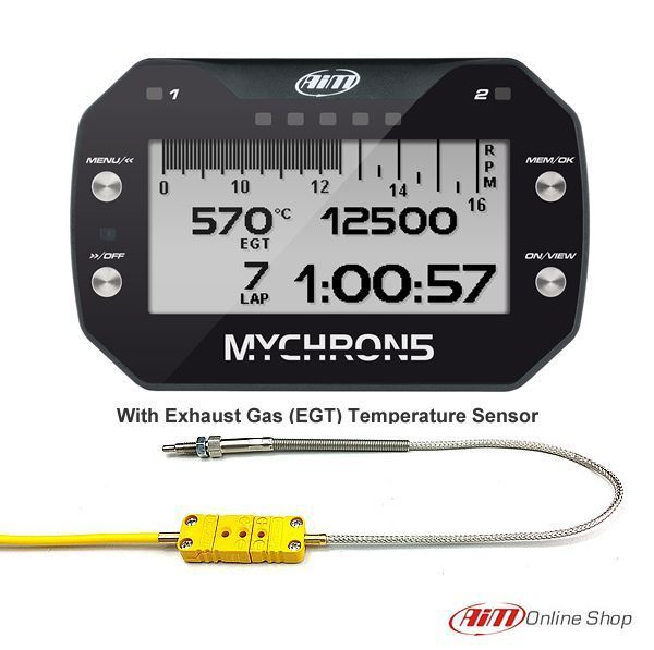 Details about Aim Mychron 5 GPS Kart Lap timer with Exhaust
