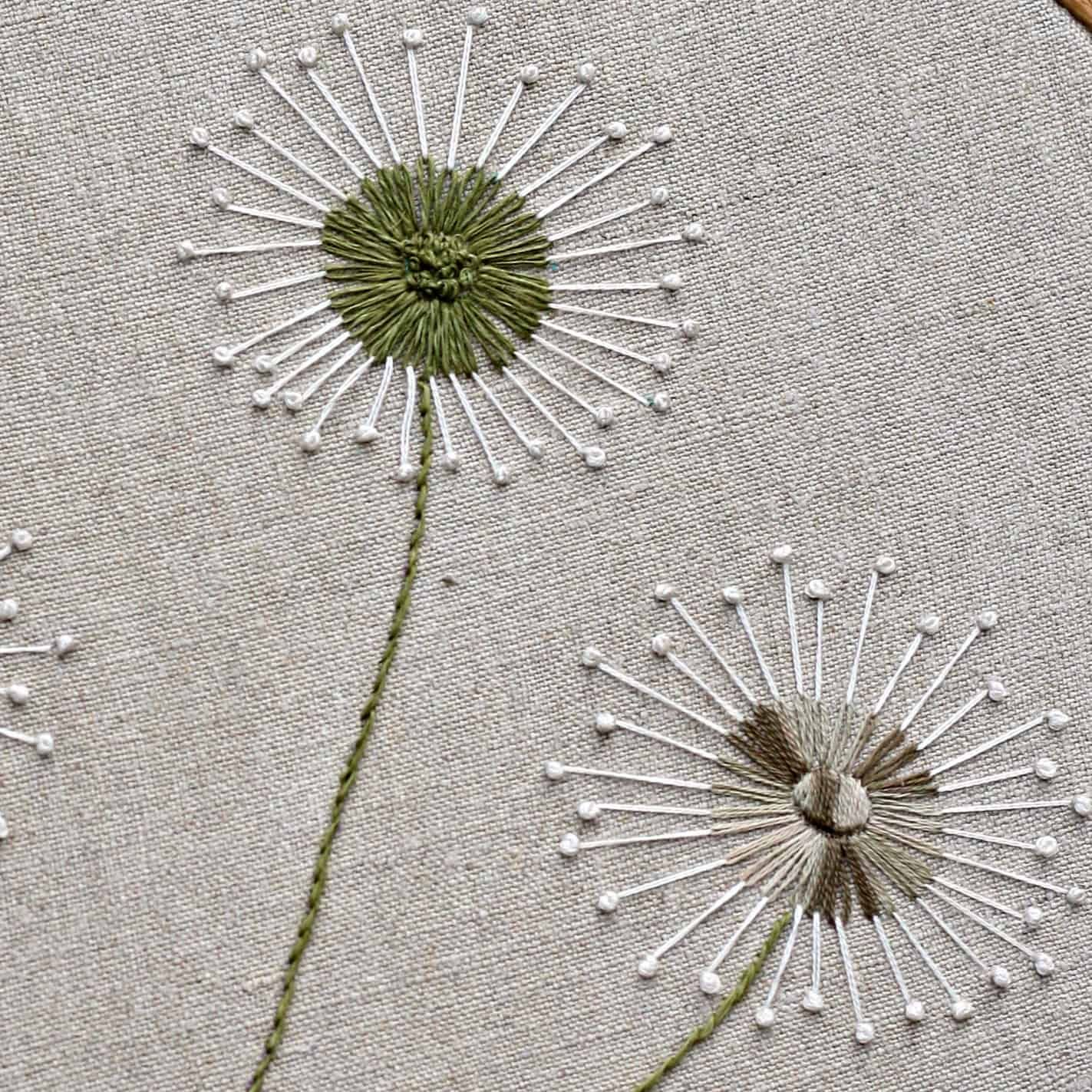 How To Stitch Dandelions – A Step By Step Tutorial | polkadots & blooms – How to embroider