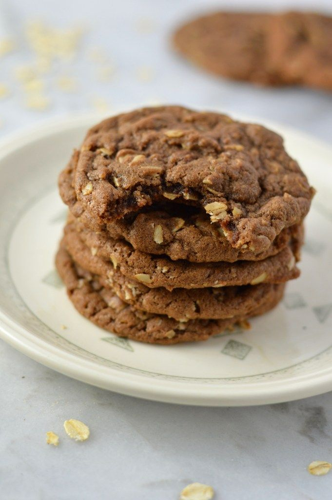 Oatmeal Nutella Cookies | A Taste of Madness