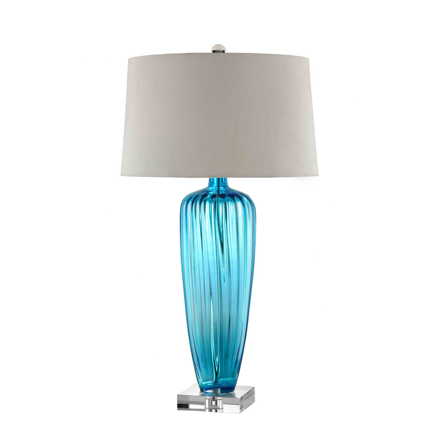 Blue glass table lamps  Stein World Duncombe Park Table Lamp with Empire Shade  lamps