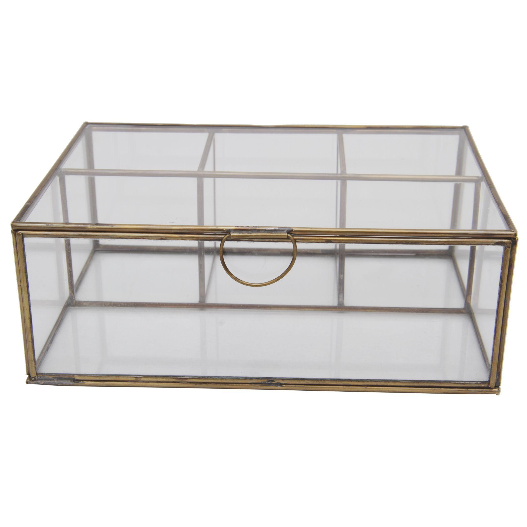 541f928df3b Decorative Brass-trimmed Glass Box
