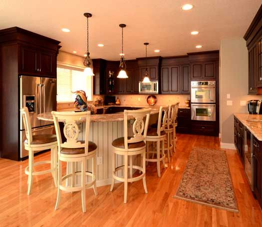 Kitchen With Island In Agawam, MA. Designed By Kitchen And