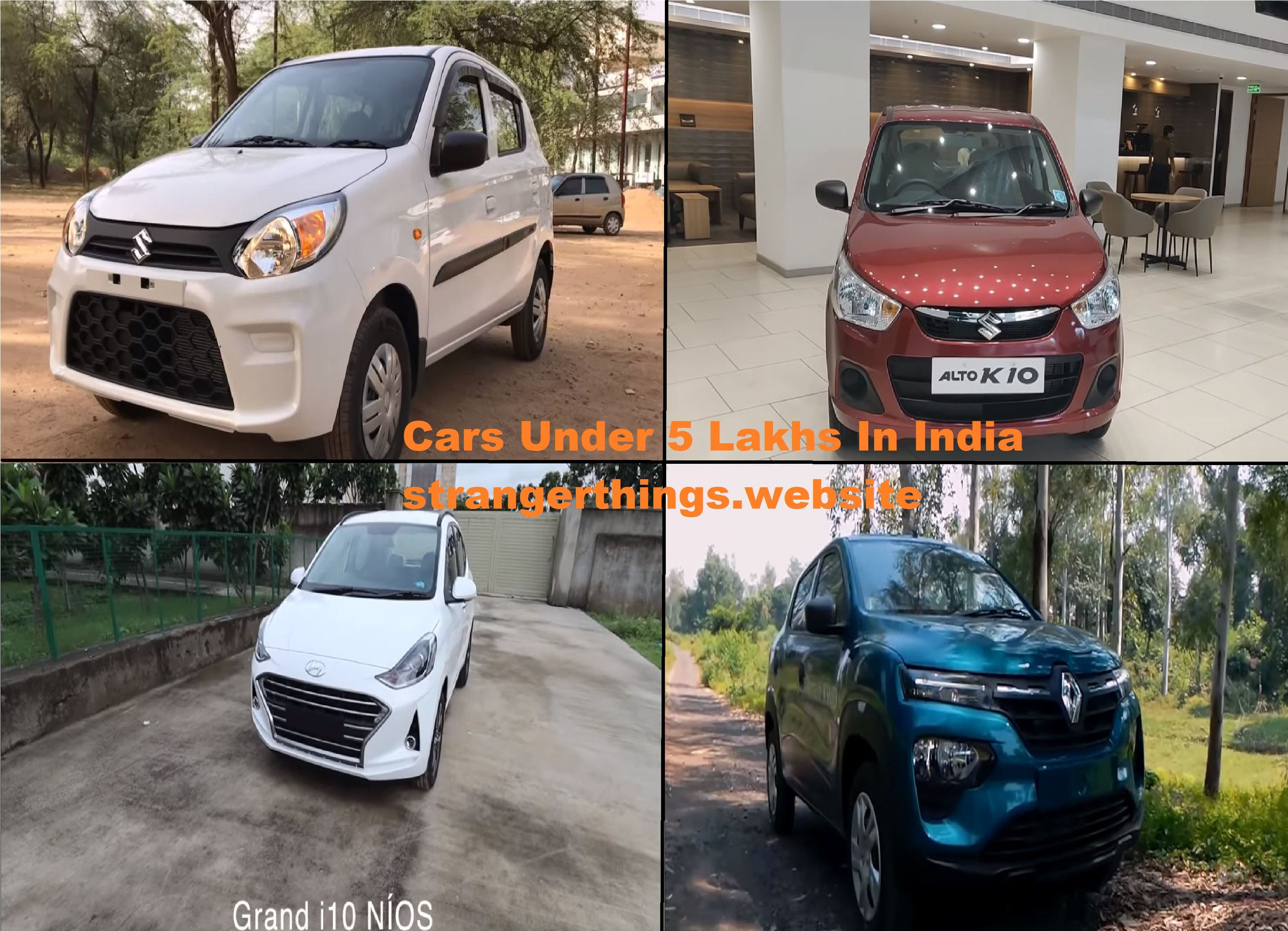 2020 Latest Top Most 4 Cars under 5 lakhs in India India