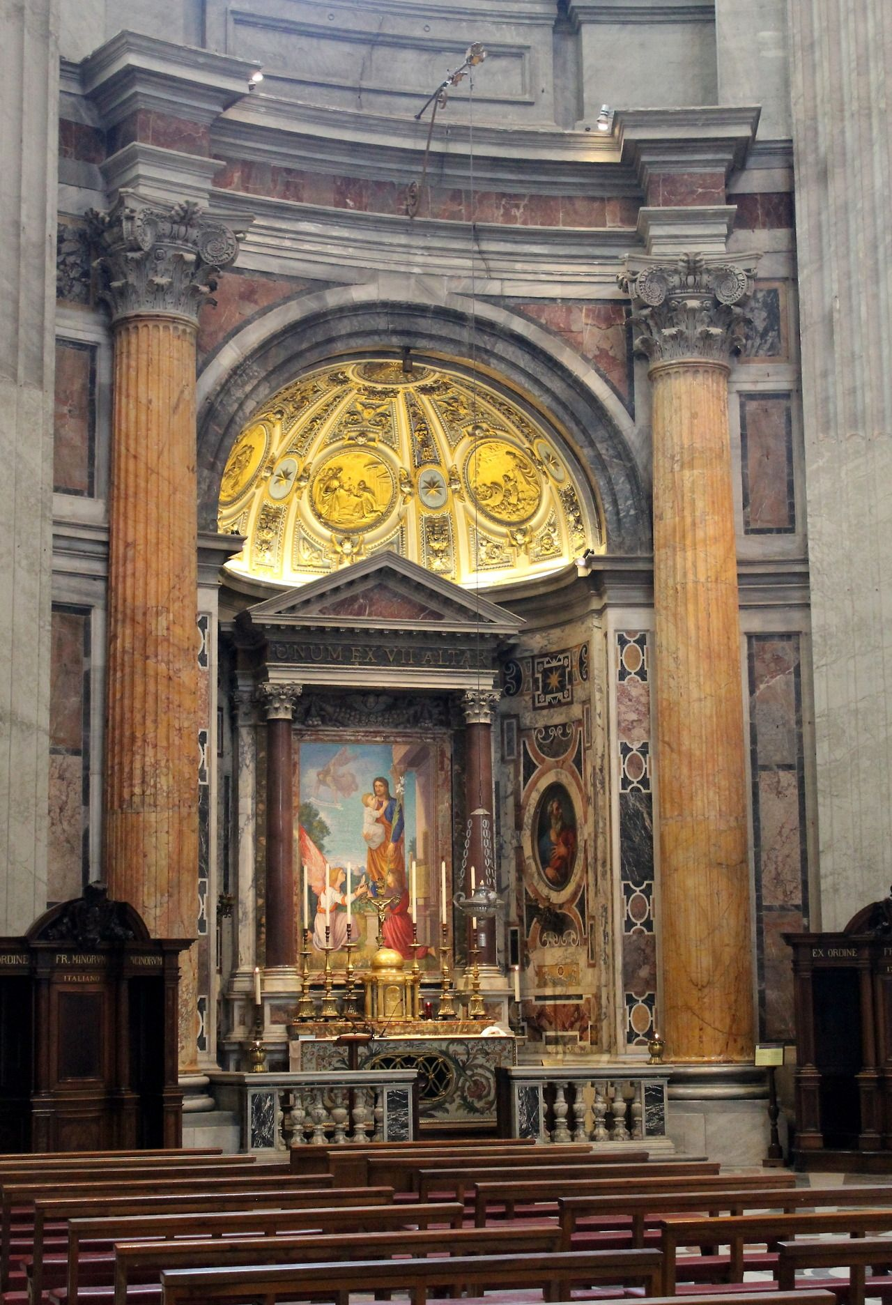The Altar of Saint Joseph in St. Peter's Basilica, which