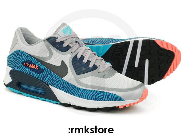 Nike Air Max 90 CMFT PRM Tape 3M Reflective Wolf Grey Gamma Blue (616317-
