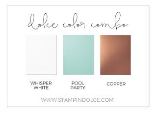 Stampin' Dolce: Watercolor pool party & copper - GDP044