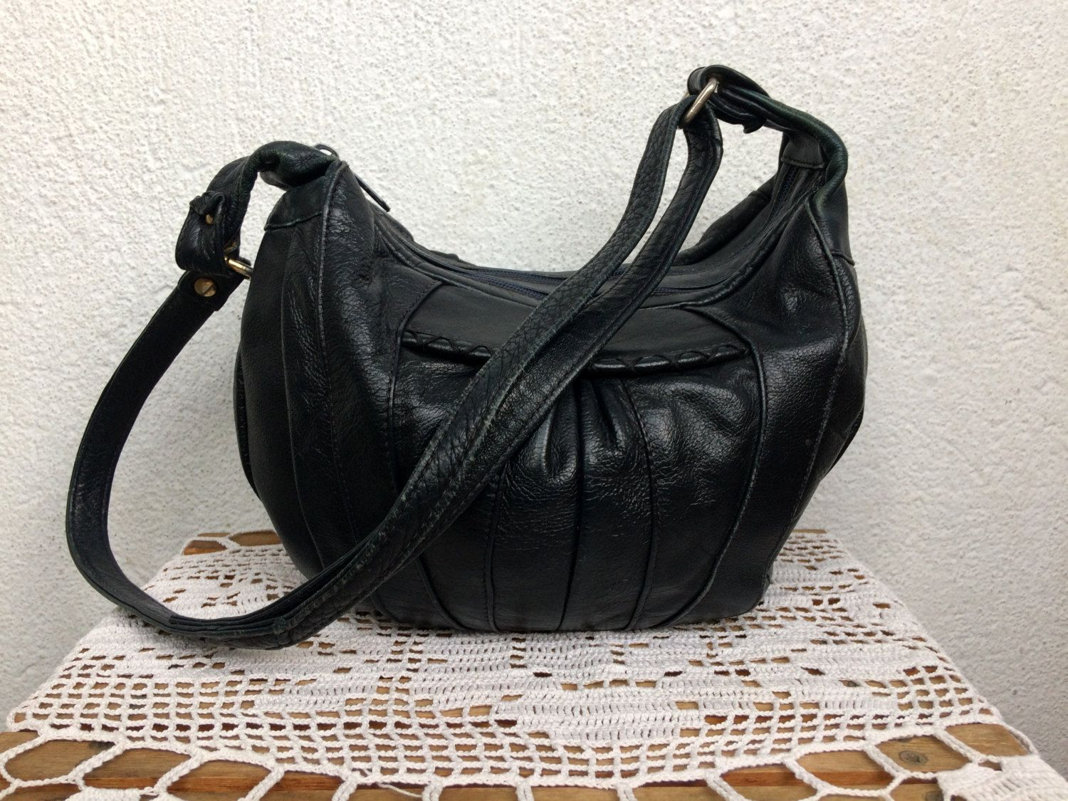 Vintage 80s Slouchy Leather Bag 38b898394c97c