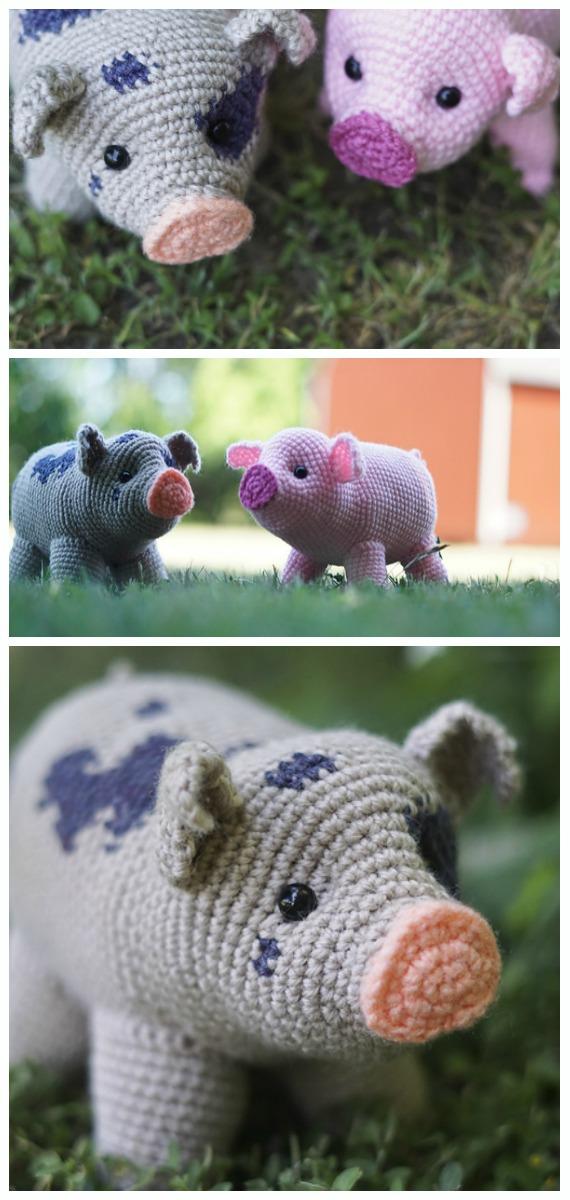 Amigurumi Pig Softies Free Crochet Patterns - Crochet & Knitting